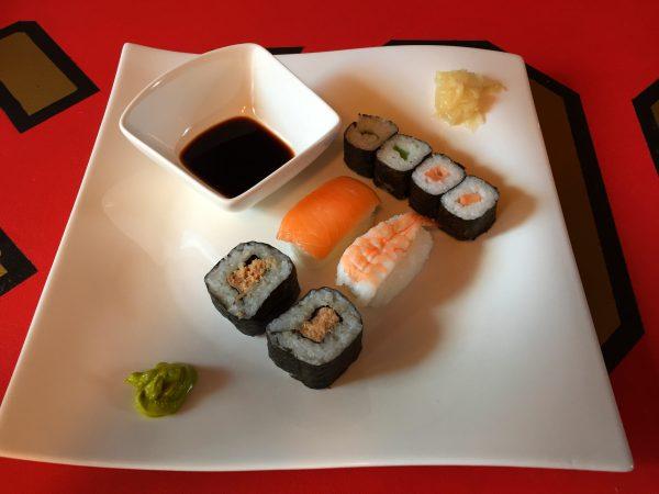Aldi Sushi Sunnaku angerichtet 2