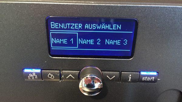 Kaffeevollautomat Siemens EQ 7 Benutzer speichern