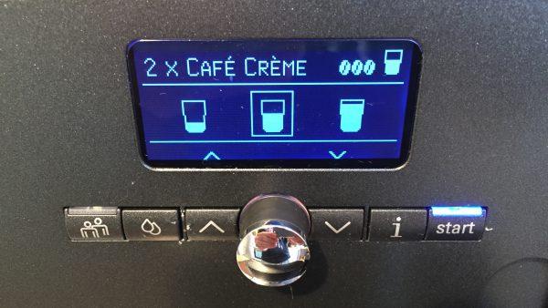 Kaffeevollautomat Siemens EQ 7 Tassengröße einstellen