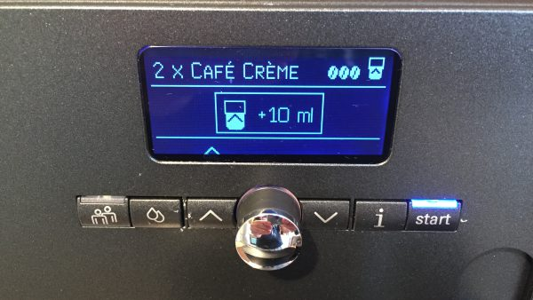 Kaffeevollautomat Siemens EQ 7 zusätzliche Füllmenge